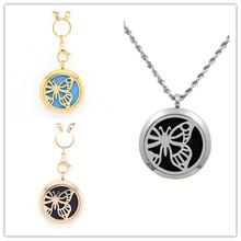 10Pcs Butterfly Purfume Locket Pendants Stainless Steel Magnetic Aromatherapy/Essential Oils Diffuser Lockets Free Pads