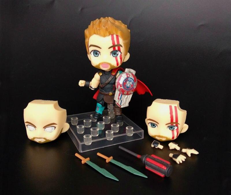 Anime Marvel Avengers Thor Odinson Nendoroid 863 & 866 Cute Kawaii Super Hero 10cm Action Figure Toys (4)