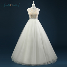 Buy casamento New Arrival Sleeveless High Neck Ball Gown Beaded Real Sample Love Wedding Dress Bridal robe de mariage ASAW26 for $199.12 in AliExpress store