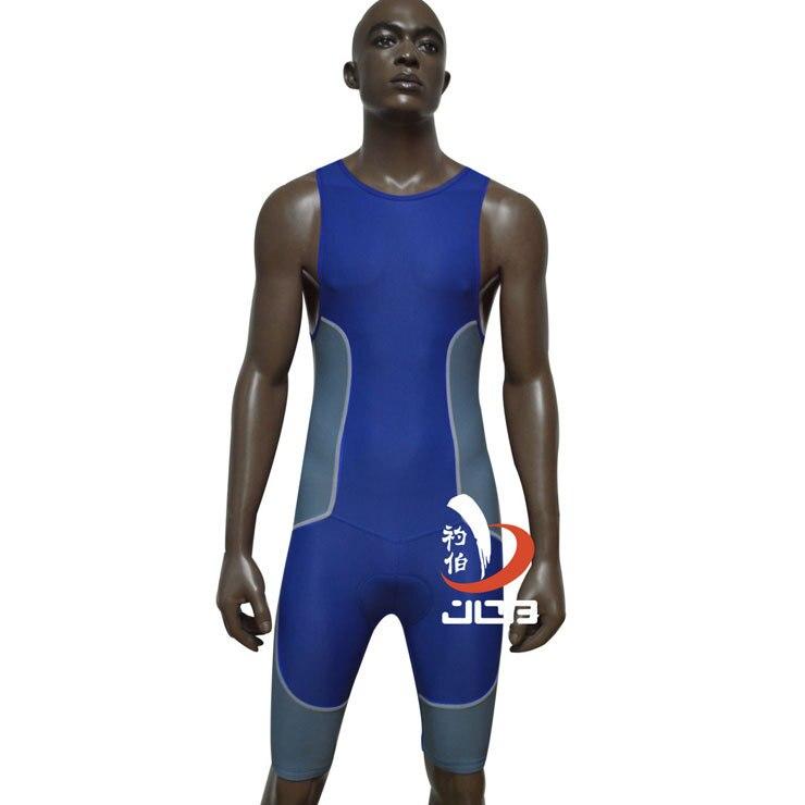 JOB Black Lycra sleeveless ironman triathlon wetsuit one piece bodysuit plus size maternity swimwear cycling running wear<br>