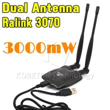 USB 2.0 Wireless BT-N9100 Beini free internet High Power 3000mW Dual OMNI Antenna Wifi Decoder Ralink 3070