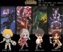 Game PVC Action Figures High Quality Collectible Model Toys Lee Sin EZ Ashe Katarina Skin version(China)