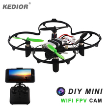 NEW Headless Mode One Key Return Land Assemble Nano DIY RC Drone Remote Control Mini Quadcopter with FPV Camera Gravity Sensor