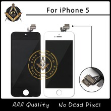 10PCS/LOT Competitive Price AAA Quality LCD For iPhone 5 Screen With Frame And Touch Screen Digitizer Assembly Free Shipping DHL