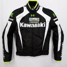 New arrival men jacket KAWASAKI winter automobile race clothing motorcycle jacket thermal removable liner flanchard