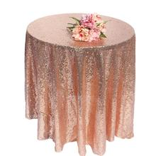 Champagne/god/silver/rose gold Sequin TableCloth Wedding Beautiful Champagne Sequin Table Cloth / Overlay /Cover/Many size(China)
