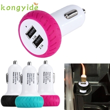 2017 Mini Dual 2 Port 12V USB Auto In Car Charger Adapter Adaptor Charging januar13 Levert Dropship