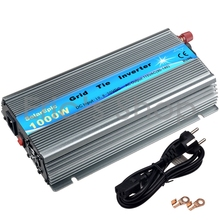 1000W Grid Tie Inverter DC20V-45V to AC110V Pure Sine Wave Power Inverter For 24V/36V 60cells/72cells Panel With MPPT Function(China)