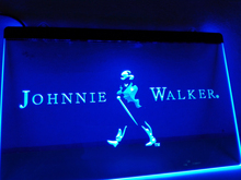LE082- Johnnie Walker Whiskey Wine Bar LED Neon Light Sign