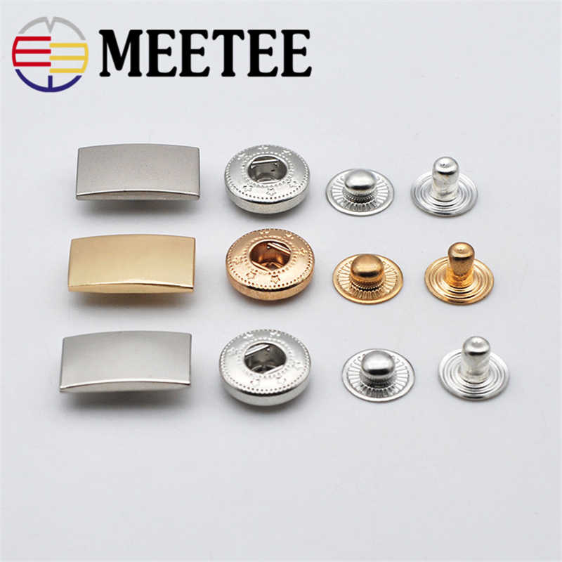 e5b73626f2e 10sets Meetee Metal Press Studs Snap Fastener Buttons for DIY Sewing Bags  Garment Coat Down Jacket