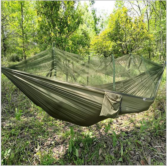 LuckyAngel двойной парашют гамака человека портативный наружный сад Camping Indoor Home, спя кровать гамака 300 кг Макс, загружающий