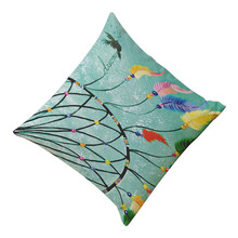 2017 Hot Selling Feather Printing Dyeing Sofa Bed Home Decor Pillow Cushion Cover Best Price High Quality May31(China)