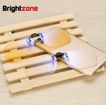 2017 New Clear & Yellow Anti-blue Rays Computer Radiation Protection Blue Light Filter Gaming Eye Comfort Glasses Clip-on Frame(China)