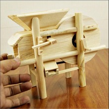 Creative wood carving windmill Furniture model China style Home accessories solid wood Environmental protection new gifts FL-2