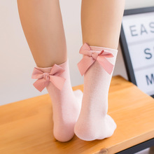 5 pairs/lot Women Cute Bow Knot Cotton Socks Girls Candy Color Casual Comfortable Socks Harajuku 3D Bow Tie Sox Socks for Female(China)