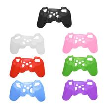 Soft Elastic Silicone Cover Protective Skin Case Replacement Housing Cover Case shell for PS3 Game Controller(China)