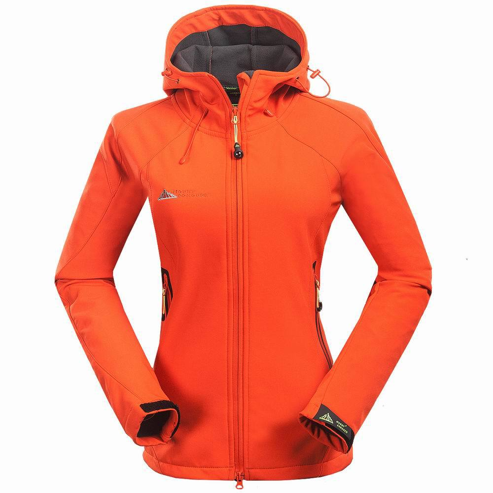 MOUNT CONQUER Outdoor Women Jacket Outdoor Camping hiking Waterproof keep warm Soft shell jacket Mountain climbing Women jacket<br>