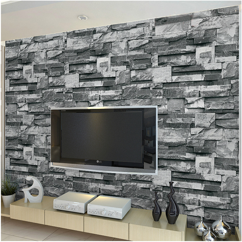 beibehang three - dimensional simulation marble wallpaper stone pattern brick living room TV background wall hotel wallpaper<br>