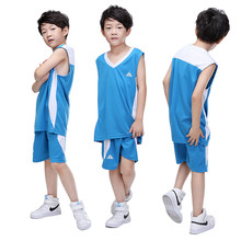 2017 Kids Basketball Jerseys Sets Uniforms kits Child Sports clothes Breathable Youth basketball jersey shirts shorts DIY Custom