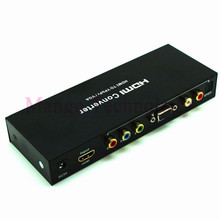 High quality Audio Video Adapter HDMI to RGB Component YPbPr HDMI to VGA /SPDIF/RL Converter Support 5.1CH Surround Sound