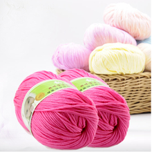 free shipping new Hot sale Worsted Super Soft Smooth Natural Silk Wool Baby yarn for knitting sweater knitting Yarn