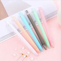 Clear Candy Color Decorative 0.5mm Black Gel-ink Roller Pen Office School Writing Supply Press Neutral Pens Cute Gel Pen