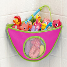 Baby Bathroom Mesh Bag Bath Toy Storage Bag Net Suction Cup Baskets Home Hanging makeup cosmetic bags EJ879480