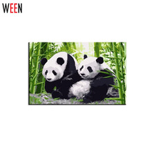 DIY Panda Oil Painting By Numbers Frameless Picture On Wall Drawing Unique Gift Coloring By Numbers China Panda