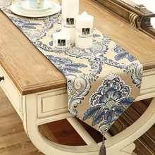 Blue Table Runner Table Cloth wedding restaurant Cafe Home Decoration cover 33*200cm 1pcs price Free Shipping