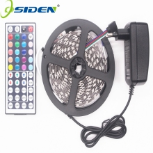 OSIDEN RGB LED Strip Led Light 5050  SMD 5M 300led Tape Waterproof RGB diode ribbon 44Key IR Controller 3A Power Supply
