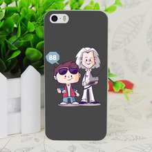 C3815 Flux Capacitor Friends Transparent Hard Thin Case Skin Cover For Apple IPhone 4 4S 4G 5 5G 5S SE 5C 6 6S Plus