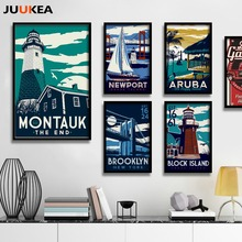 12 Pieces World Famous City Illustrations Printmaking, Canvas Print Painting Poster Wall Picture For Home Decoration, Wall Decor(China)