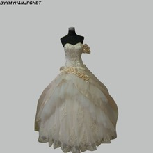 Vintage Royal White/Gold Ball Gowns Tired Straps Beautiful Wedding Dresses Bridal Gown