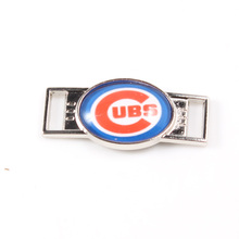 Chicago Cubs Shoelace Charms MLB Baseball Team Charms For New Sneakers Sport Shoes Paracord Bracelets Decoration 10pcs
