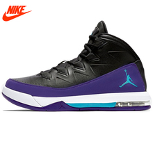 Intersport Original New Arrival Authentic NIKE Men's Breathable Basketball Shoes PU material waterproof Sneakers Non-slip(China)