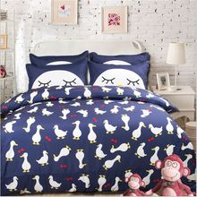 New 3pcs/4pcs twin/full/queen size children cartoon duck bedding set without the filler home textile free shipping(China)