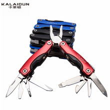 KALAIDUN Multi-functional survival stainless steel 9 in 1 knife Pliers  portable Outdoor Hand Tools mini Wrench Pliers tool set