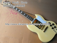 Wholesale & Retail Milk Yellow Top Three Pickups G SG Electric Acoustic Guitar China Custom Left Handed Available