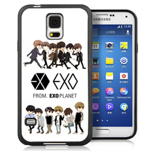 EXO Popular Band Cell Phone Case Bag For Samsung Note 2 Note 3 Note 4 Note 5 S3 S4 S5 S7 S6 edge plus Soft Rubber Skin Cover