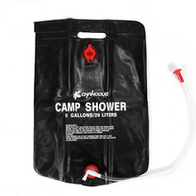 20L / 5 Gallons Outdoor Solar Heater  Shower Water Bags Camp Portable PVC Storage Bathing Bag Hiking Travel Kits