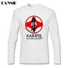 918ed662aa5 Karate Kyokushin T-shirt Mens Long Sleeve O-neck Cotton New Design Men  Clothing
