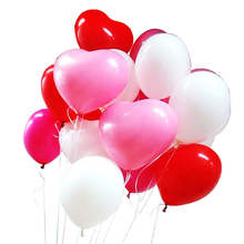 20pcs/lot 10 inch Heart Balloons 4 colors Latex Birthday Wedding Romantic Balloons Thick Love Balloons Wholesale