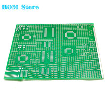 3pcs/lot Universal SMD Board 9*11cm QSOP QFP DIP MCU SCM Adapter Board 2.54mm Convert Electronic Experiment PCB Plate 9x11cm(China)