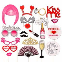 FENGRISE Photo Booth Props Hen Bachelorette Party PhotoBooth Props Bride To Be Bridal Shower Wedding Decoration Party supplies(China)
