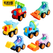 GouGouShou 6pcs Cute Engineering Car Models City Building Construction Series Baby Truck High Quality Kids Beach Toy Truck Crane(China)