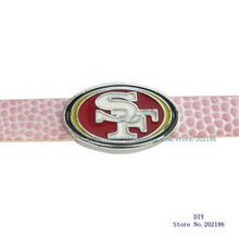 50pcs 8mm SL0297 San Francisco 49ers  Slide Charms Fit Pet Collars Wristbands Belts
