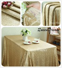 "Sequin Tablecloth Wedding Cake Tablecloth ,Rectangle /square Sequins Table Linen , wedding sequin table linens 50""X50""Matte Gold"