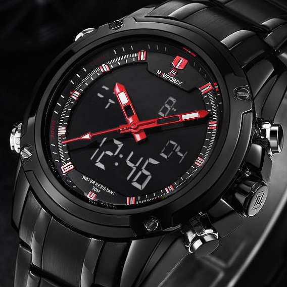 Brand  Watches men luxury Full Steel Quartz Clock LED Digital Watch Army Military Sport wristwatch relogio masculino<br><br>Aliexpress