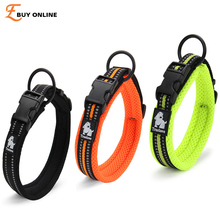 Quality 3M Reflective Dog Collars Adjustable Pet Cat&Dog Collar Outdoor Trainning Soft Air Mesh Padded Brand Pet Product XXS-3XL(China)