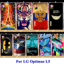 AKABEILA Hard Plastic Cell Phone Shell For LG Optimus L5 Cases E610 E612 E615 Shield Covers Skin Captain American Case Back Hood(China)